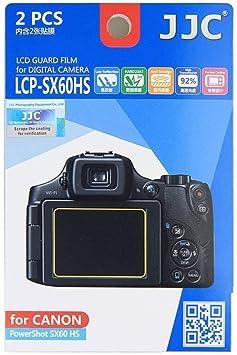 JJC 2PCS Cámara de Película Protector de Pantalla LCD Protector de pantalla para Canon PowerShot SX50 HS