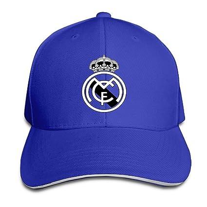 75dba6d8d4640 hittings Real Madrid C.F. Logo Football Club Adjustable Sandwich Gorra de  béisbol Roya lblue
