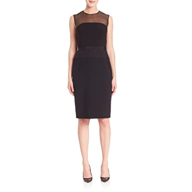 343ed43f25 Image Unavailable. Image not available for. Color  MaxMara Pianoforte  Women s Aida Organza Inset Cocktail Dress ...