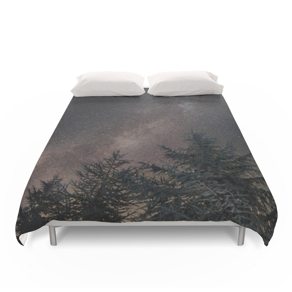 Society6 Milky Way Over The Deep Forest. Cygnus And North America Nebula Duvet Covers Full: 79'' x 79'' by Society6 (Image #1)