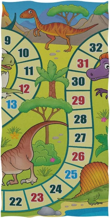 Juego de Mesa de Toalla de Gimnasio con Tema de Dinosaurio 1 Eps10 Vector Il Toalla Suave Punta de Dedo Toalla de Mano para bebé Baño Ducha Envoltura Gimnasio Deporte 30x15 Pulgadas