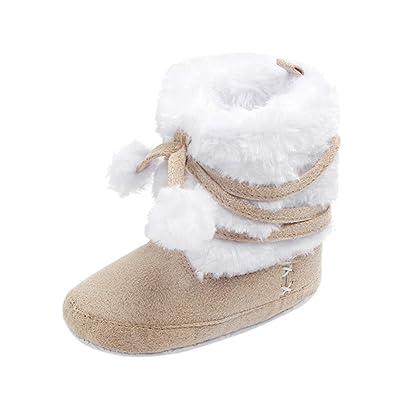 cce1a7e92a77 Baby Shoes Momola Toddler Girl Boy Unisex Warm Crochet Knit Fleece Boot Snow  Anti-Slip