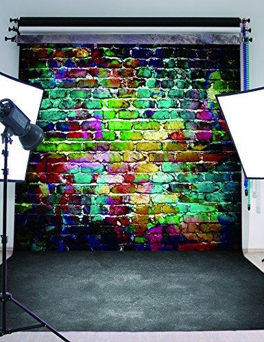 5x7FT Chromatic Brick Wall Photography Backdrop Customized Photo Background Studio Prop RM-005 (Homemade Halloween Photo Backdrops)