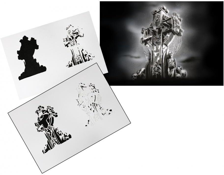 Step by Step Airbrush Stencil AS-013 ~ Stencils ~ UMR-Design