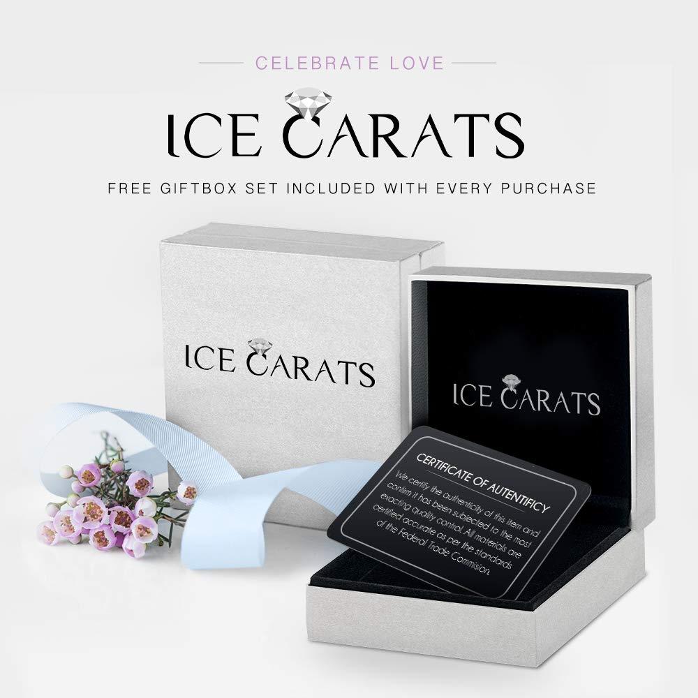 IceCarats 925 Sterling Silver 14k Sky Blue Topaz Diamond Cuff Bracelet Gemstone Bangle Hinged by ICE CARATS (Image #4)