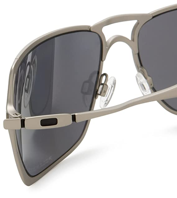 db5cd94269e1 Amazon.com: Oakley Men's Inmate Iridium Sunglasses,Light Frame/Black  Lens,one size: Clothing