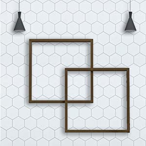 "197"" ×17.7"" Hexagon White Wallpaper Peel and Stick Wallpaper Removable Wallpaper Self Adhesive Wallpaper White and Grey Wallpaper Modern Wall Paper Decor Shelf Liner Vinyl Wallpaper Thick New Update"