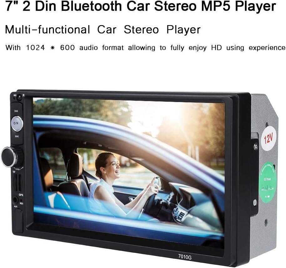 7 inch 2 Din Car Radio Multimedia GPS Antenna Bluetooth Car Stereo MP5 Stereo Player FM//USB//TF//AUX AYNEFY Car Radio Multimedia