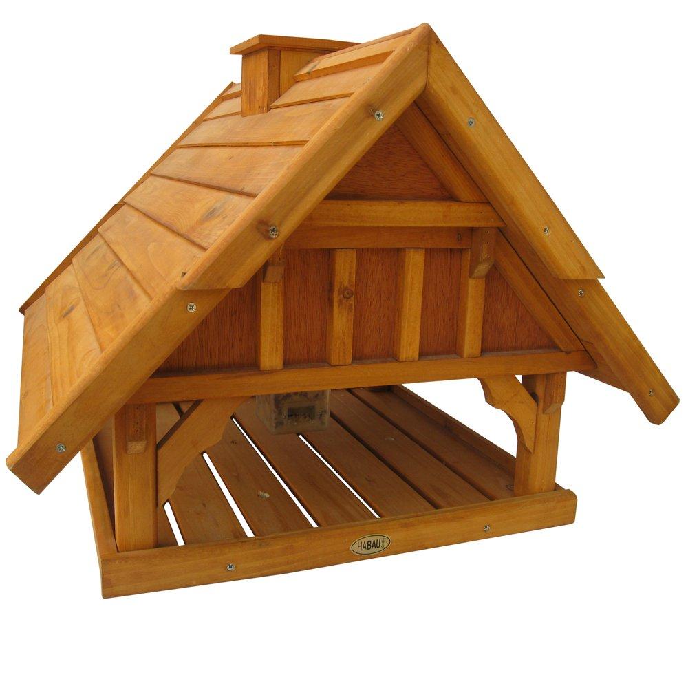 Habau Vogelhaus Lettland Maxi mit Silo und Ständer