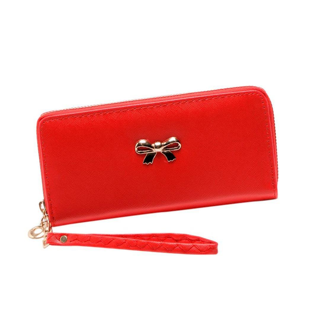 Wallet women Fuibo 1 Cent Tirette unique /à tirette solide Wallets Zero Coin Purse Phone Bag Billfold Purse for Women Girls Gift Card Holders Black
