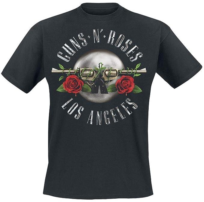 Guns N Roses Los Angeles Seal Camiseta Negro: Amazon.es: Ropa y accesorios