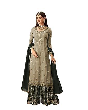fe5caabde1b Amazon.com  Delisa Plazzo Saharara Salwar Kameez Party Wear Foe Women  57002  Clothing