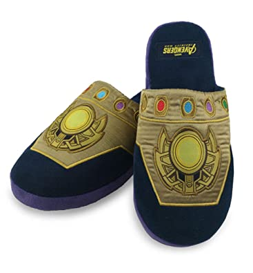 595a3f6b838d9b Thanos Infinity Gauntlet Marvel Slippers  Amazon.co.uk  Shoes   Bags