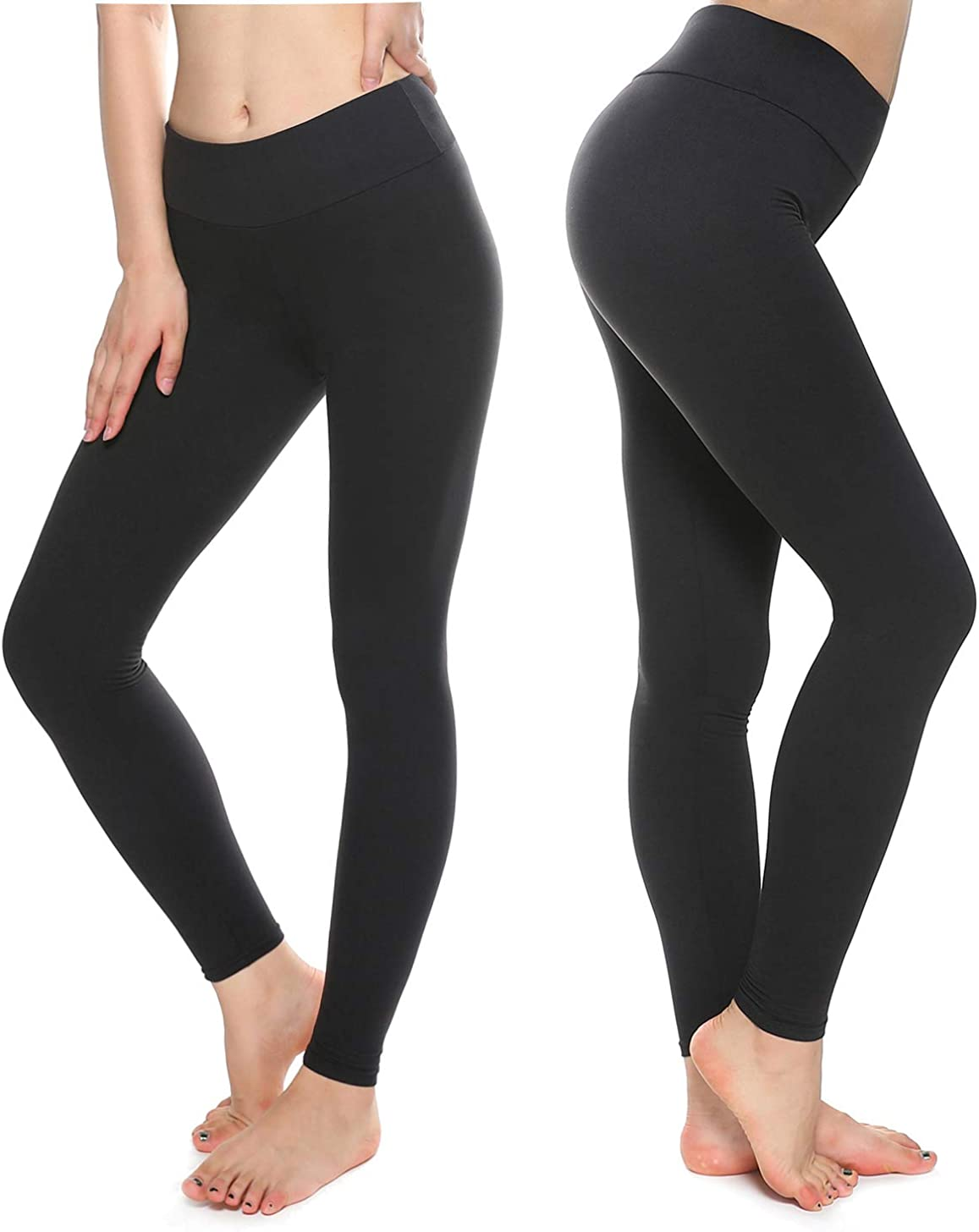 KT Buttery Soft Capri Leggings for Women - High Waisted Capri Pants with Pockets - Reg & Plus Size - 10+ Colors