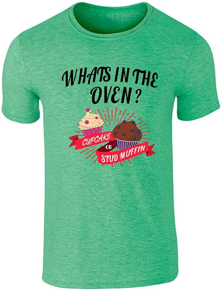 Gender Reveal What's in The Oven? Cute Funny Graphic Tee T-Shirt for Men