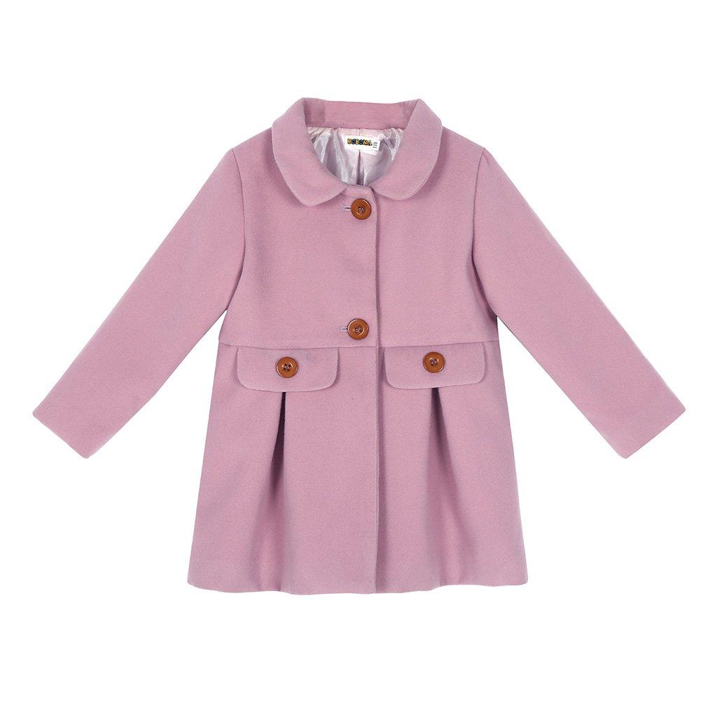 Cutelove Little Girls Winter Warm Wool Bowknot Trench Coat Jacket 2-6T