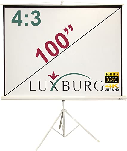 Luxburg - Pantalla de proyección con trípode (203 x 152 cm, Full ...