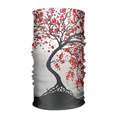 Moon And Red Trees DIY Pattern Headband Bandana Mask Sports Seamless Breathable Hair Band Turban For Workout, Fitness, Running, Cycling, Yoga