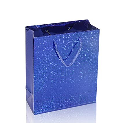 Rose 30 x 25 x 2.4cm UNHO 6 x Sacs Cadeaux Hologrammes en Papier Epais Couleurs Assorties Sachets Pochettes Cadeaux pour Noel//Anniversaire//Mariage Id/éal D/écoration comme Emballage//Paquet Cadeau