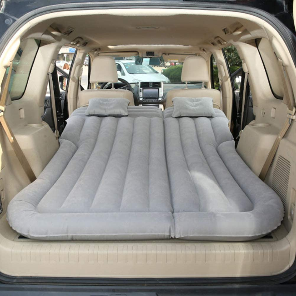 LXJ-LD Inflatable Car Air Mattress for Camping Travel Portable Car Air Bed with Headrest and Air Pump for SUV,Truck,Minivan//Compact Twin Size