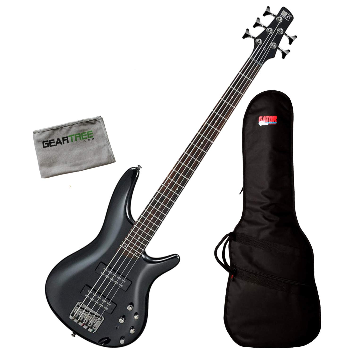 Ibanez SR305E IPT SR Standard 5-Str Iron Pewter Bass Guitar w/Bag and Cloth