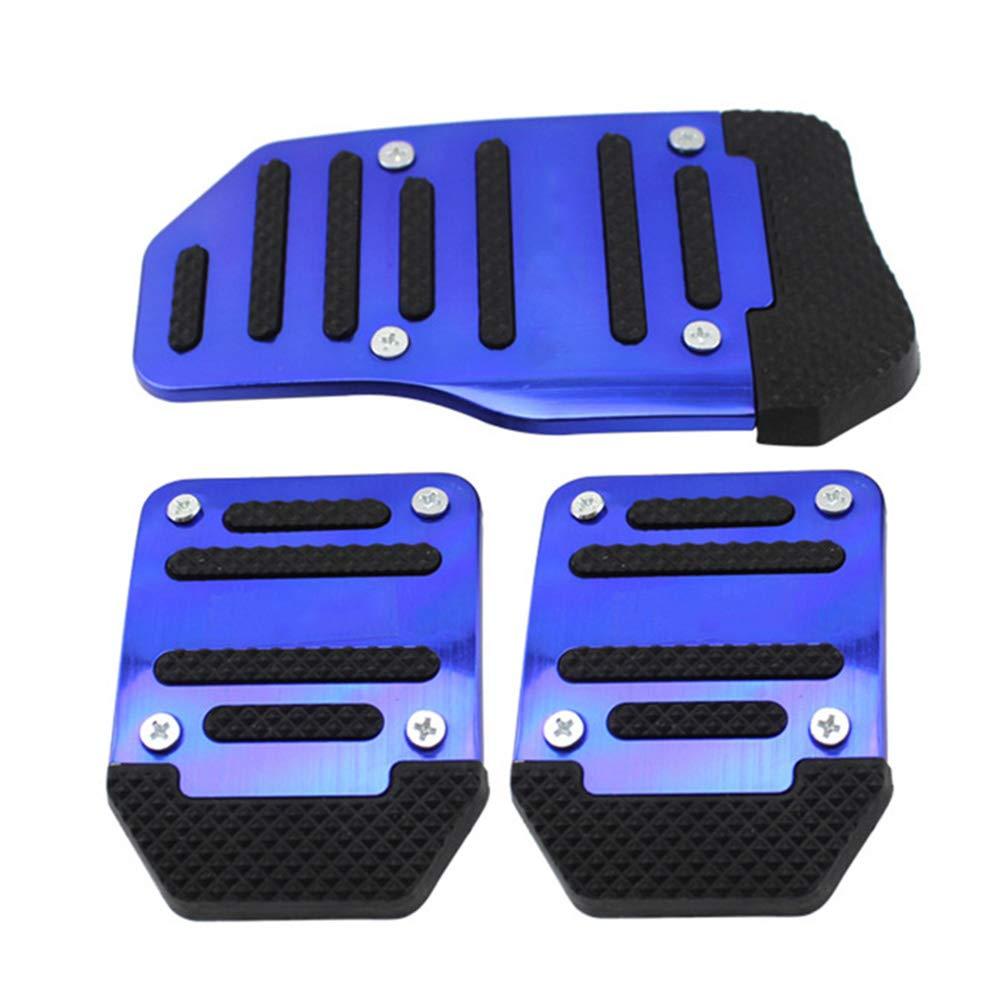 Alftek 3 Teile//Satz Universal Aluminium Schaltgetriebe Rutschfeste Auto Pedal Abdeckung Kit Auto Styling
