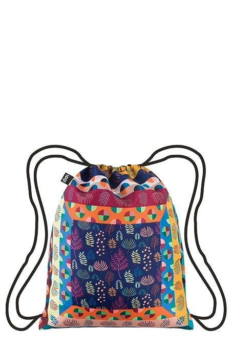 Multicolour 10 liters Multicolor LOQI Artist Hvass/&Hannibal Maze Backpack Mochila tipo casual 44 cm