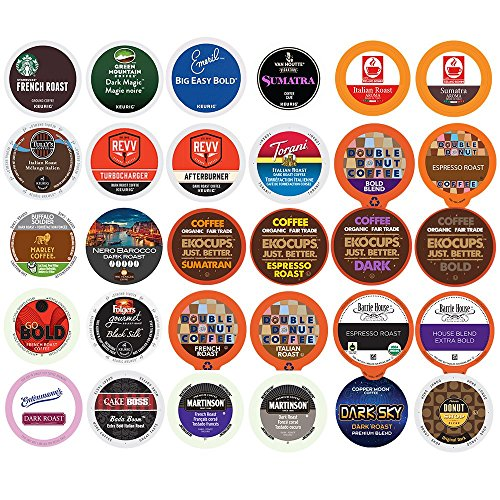 Custom Variety Pack Bold Coffee Single Serve Cups For