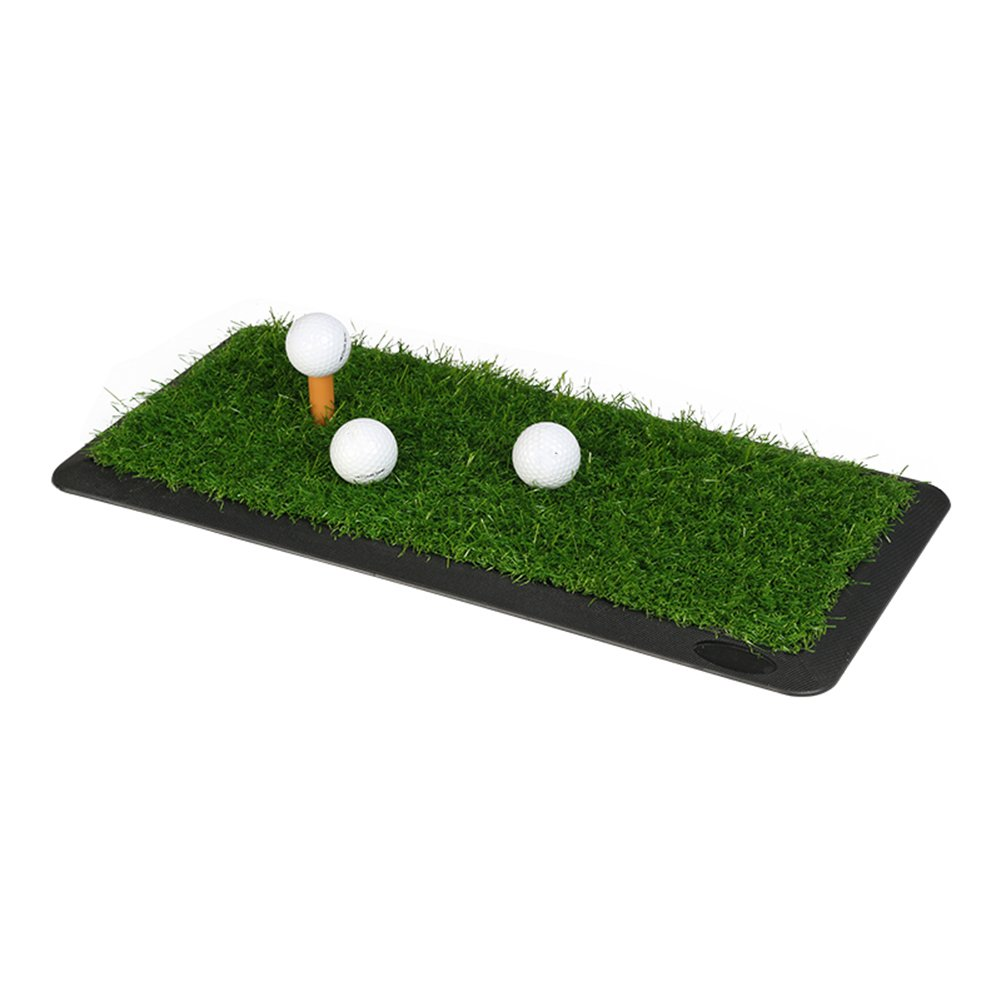 1つのティーのオフィスのポータブルが付いているQiangDaの屋内ゴルフパッティング/練習のマットのSodのゴム製打撃パッド、草の厚さ:2cm、3サイズ任意(サイズ:65 x 30cm)   B07B46SBWT