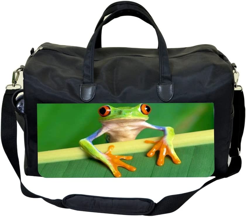 Tree Frog on a Leaf Branch Gym Bag