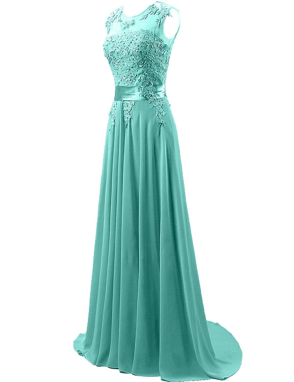 Cdress Chiffon Long Prom Dresses Lace Applique Bridesmaid Dress ...