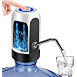 Despachador de agua Automático, TECHVIDA USB Botella Recargable Agua Potable Bomba de Agua Potable Eléctrica Inalámbrica Bombeo Rápido Botella de Galón Universal Interruptor de Dispensador de la Bomba de Agua