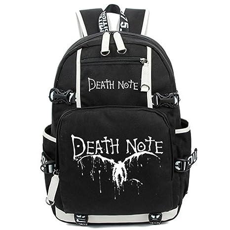 Bromeo Death Note Animado Luminoso Mochila Bolsas Escolares ...