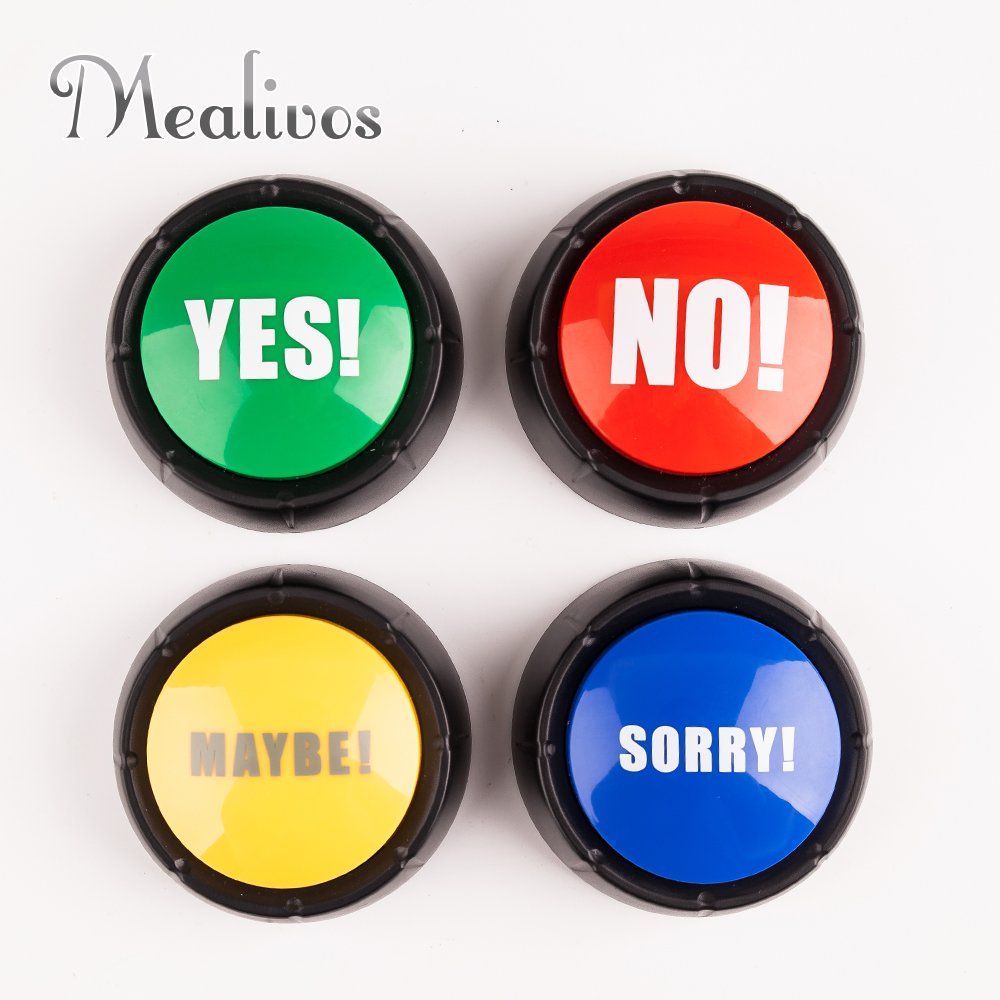 Set of 4 , The NO, YES, SORRY and MAYBE Buttons by Mealivos