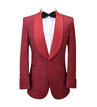 1f510a0a02 Jacquard Paisley Floral Pattern Premium Slim Fit Fashion Tuxedo Prom Wedding  Groom Party Suits Blazers Jacket
