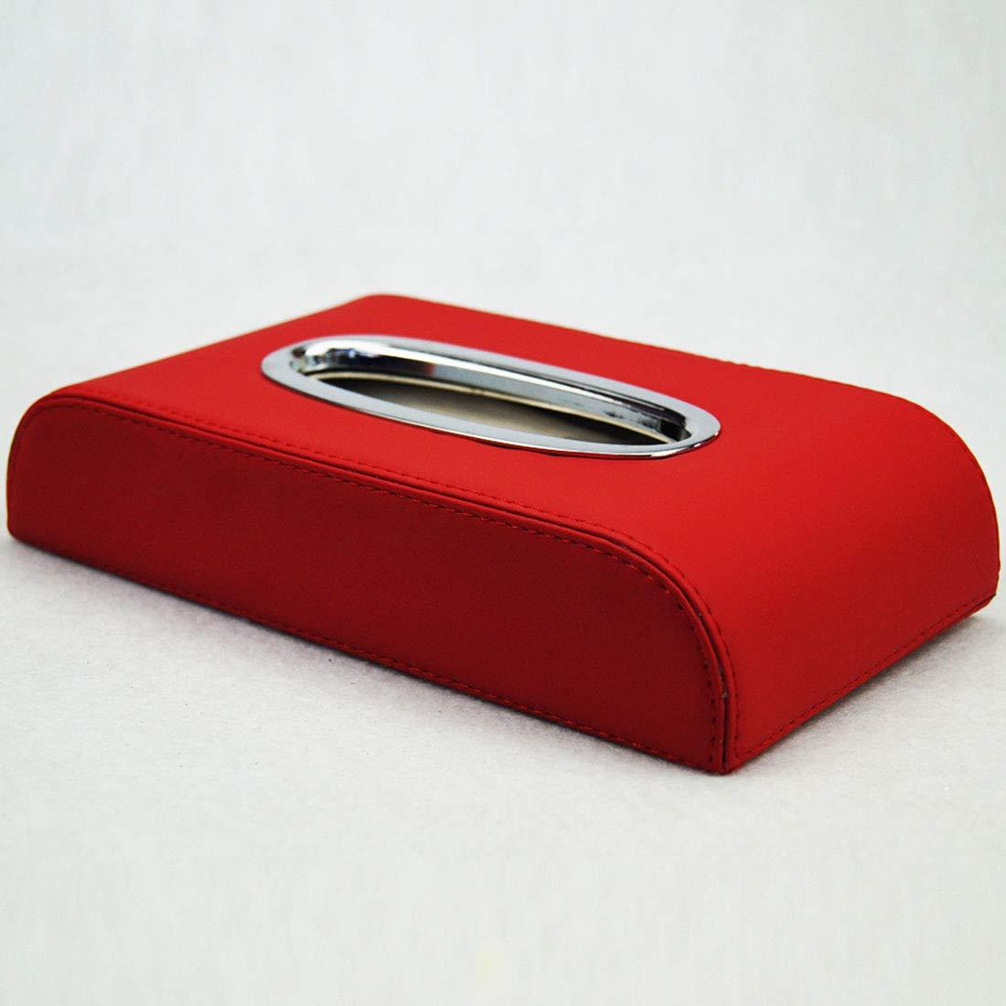 WEATLY Scatola portafazzoletti da Viaggio con braccioli Antiscivolo di Alta qualità (Color : Beige)