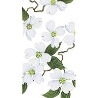 Caspari - Disposable Folded Bathroom Hand Towel, White Blossom Paper Pack of 15