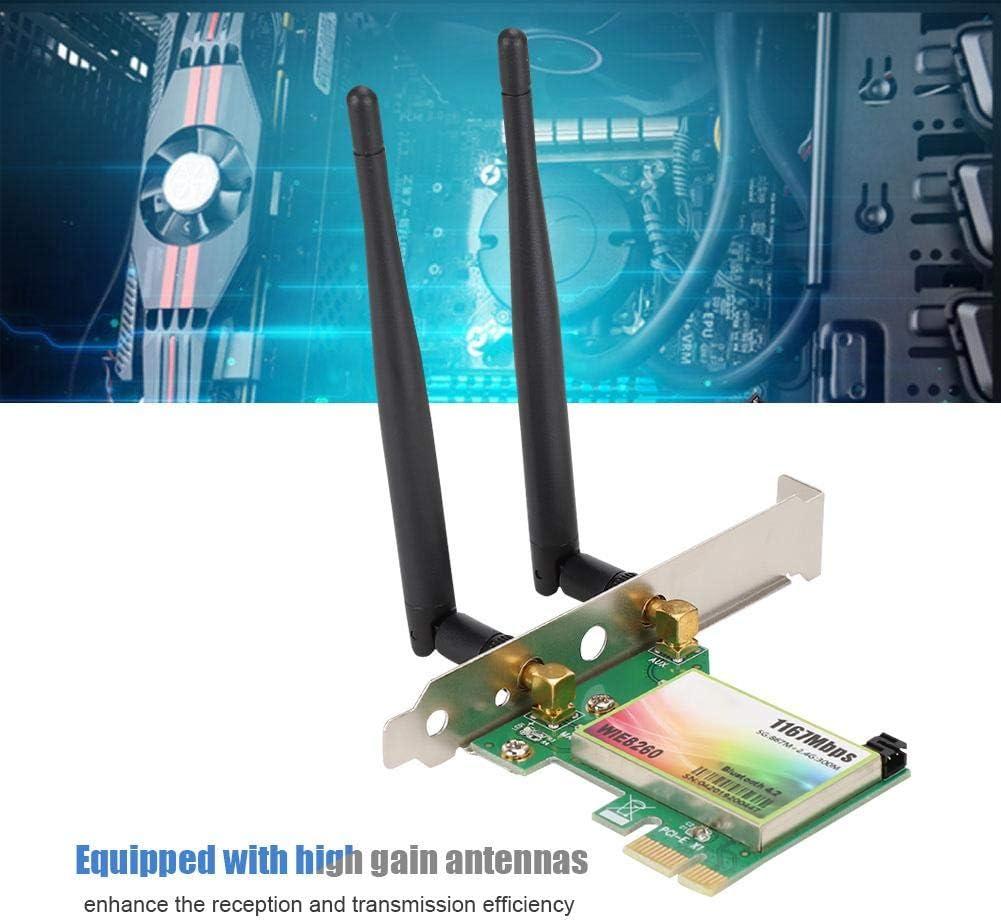 Sanpyl Network Card for Intel 8260 AC WIE8260 Wireless Desktop Wireless WiFi Card External Dual Band Antenna 1200Mbps NIC AP Function