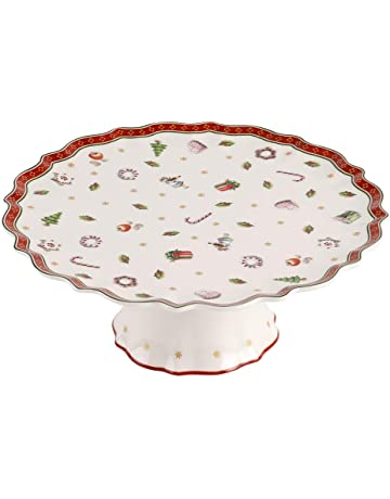Pivotant Gâteau Plaque de verre à secteurs Plaque Gâteau Support Assiette Ø 30 cm