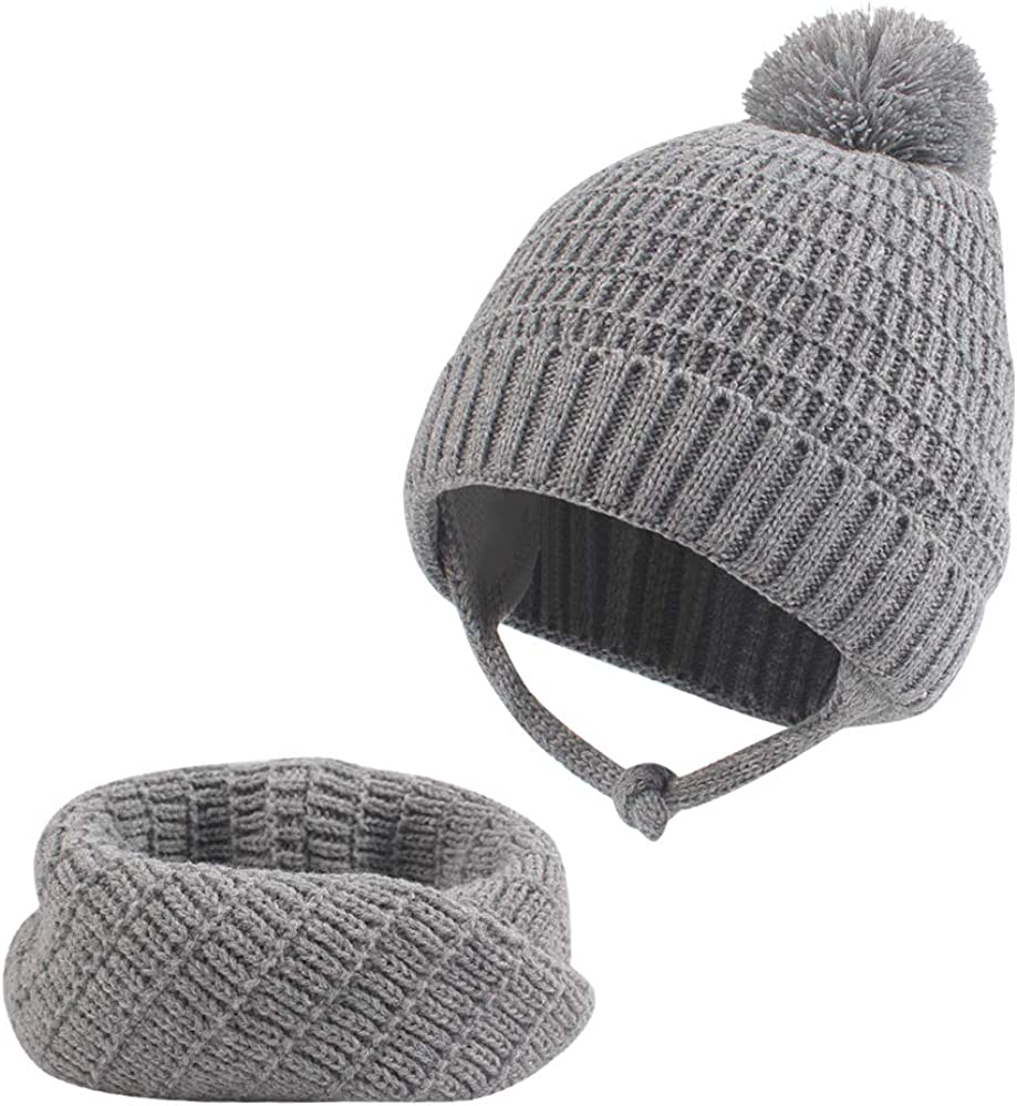 XIAOHAWANG Baby Hat for Boys Winter Toddler Girl Earflap Beanie Warm Infant Thick Knit Caps for Kids