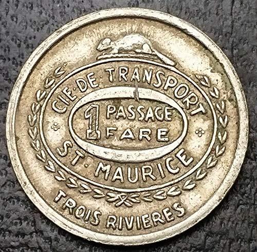 ST MAURICE TROIS RIVIERE TRANSIT TOKEN ***DOTS ON OBV/REV***