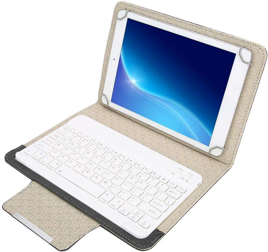 Goshyda Funda Protectora de PU de Tableta de 10 + Teclado Bluetooth, con función de Soporte, Universal para Todas Las tabletas de 9.7 pulgadas-10.1 ...