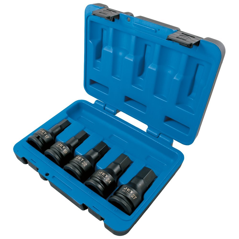 Jet 3/4-inch Drive, 5-Piece Regular Metric Professional Hex Bit Impact Socket Set, 610421