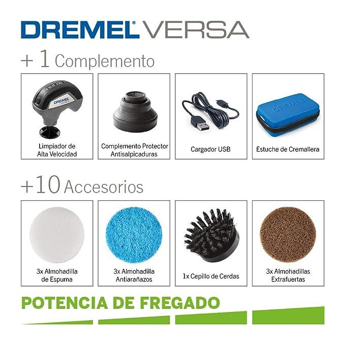 Dremel F013PC10JA Versa Limpiador de Alta Velocidad-Kit 9 ...