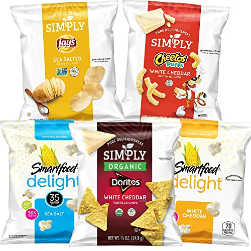 Simply & Smartfood Delights Variety Pack, 36Count (Best Healthy Snacks For Work)