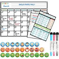 Magnetic Large Reusable Dry Erase Calendar Set
