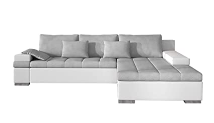 Amazon.com: EQsalon CESARE LUX Soft Fabric L-Shaped ...