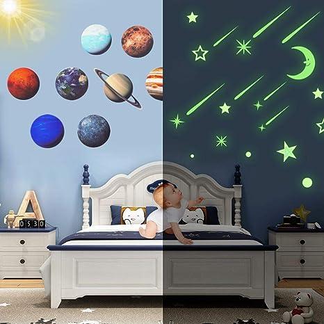 100 Pcs Glow Luminous Stars Room Decoration Stickers Wall Glass DIY Gift