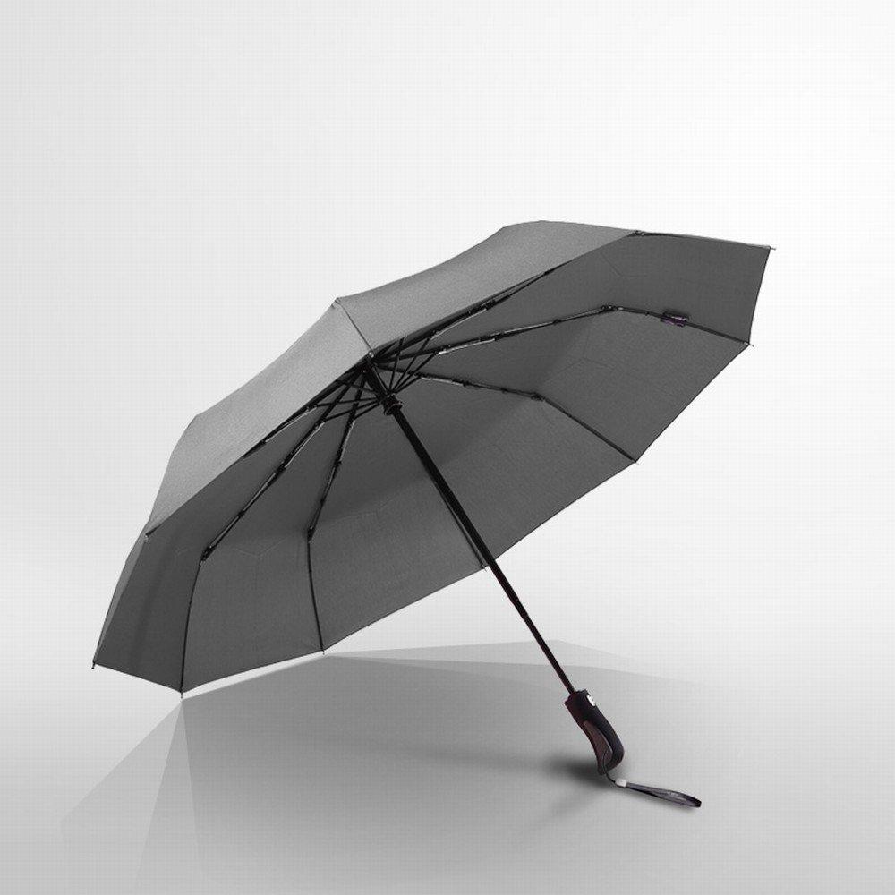 GZZ Parapluie Automatique de Parapluie des Hommes, Parapluie Ensoleillé Grand Parapluie Renforcé de Triple Étudiant par Pli Parapluie Ensoleillé Grand Parapluie Renforcé de Triple Étudiant par Pli Noir Taille Unique