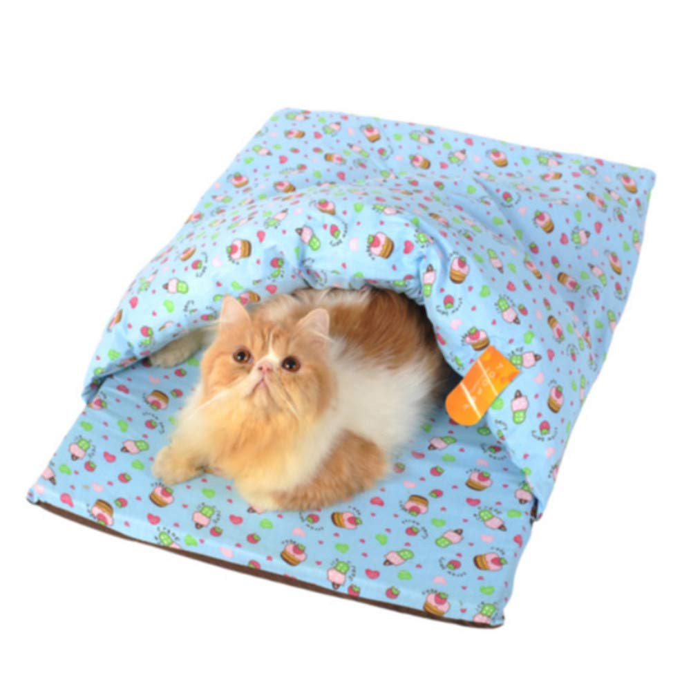 B S B S Wuwenw Pet Dog Cat Warm Soft House Sleeping Bag Dual Slippers Nest Removable Washable,S,B